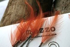 Rust Feather Hair pins