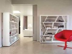 How do modular homes differ from houses built on-site? Here are 10 basic facts you should know about modular homes! Minimalist Bookshelves, Creative Bookshelves, Modern Bookshelf, Bookshelf Design, Bookcase Shelves, Book Shelves, Architecture Design, Contemporary Shelving, Beds For Small Spaces