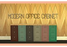 Modern Home Office Set (new meshes) - Sims 4 Designs