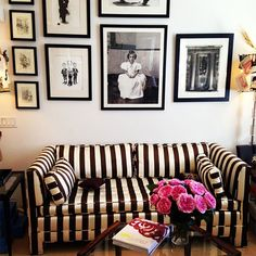 stripes {at the office : a glimpse inside the elegant world of carolina herrera}