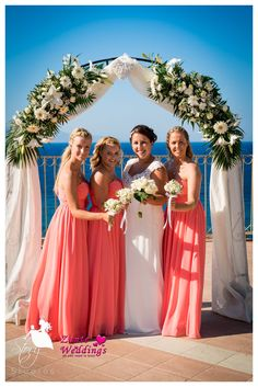 The bride and her three of her closest girls, her bridesmaids!