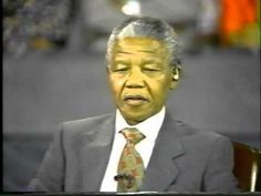 ▶ Nelson Mandela destroys Ted Koppel Part 1 - YouTube I don't agree with everything the person who uploaded this said, but it's an interesting ideological debate and it's the first time he appeared in the US after his imprisonment