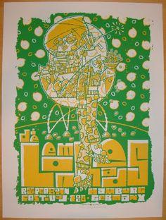 2008 The Lemonheads - Silkscreen Concert Poster by Guy Burwell