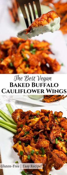 Crispy on the outside, tender on the inside, and coated in a flavorful spicy sauce, these Baked Buffalo Cauliflower Wings are the perfect, mouthwatering, bite-sized eats! Paired with Hemp Seed Ranch, this meal gives you endless flavor with a health-boosting twist!    #cauliflowerwings #cauliflowerrecipe #veganwings Baked Buffalo Cauliflower, Spicy Cauliflower, Cauliflower Wings, Cauliflower Recipes, Healthy Vegan Snacks, Healthy Recipes, Salad Recipes, Snack Recipes, Dairy Free Recipes