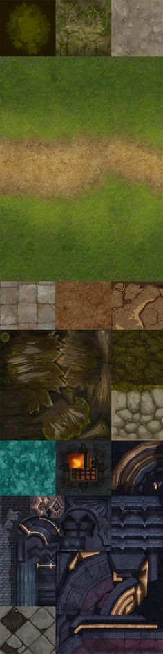 高质量手绘场景地表贴图 Game Textures, Textures Patterns, Hand Painted Textures, Pixel Design, Game Environment, Landscape Concept, Game Background, 3d Texture, Environmental Art