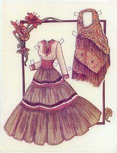 Ramona: a story of Old California by Helen Hunt Jackson; paper dolls by Betty J Rolenz, 1991   Gabi's Paper Dolls
