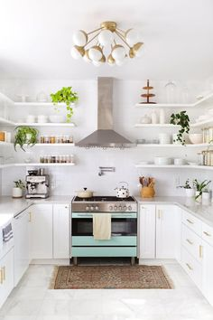 Smart Food Storage Strategies When There's No Pantry | Most small spaces and tiny kitchens aren't lucky enough to have a built-in pantry. When that happens, storing food and creating storage for pots and pans is tricky, but not impossible. Here are kitchen storage solutions for cookware and food.