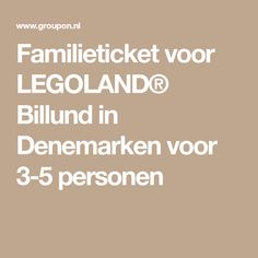 Familieticket voor LEGOLAND® Billund in Denemarken voor 3-5 personen