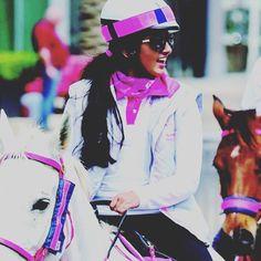 Salama bint Mohammed bin Rashid Al Maktoum, The pink caravan, 2015 Salama, Caravan, Riding Helmets, Dubai, Captain Hat, Princess, Pink, Fashion, Business Fashion