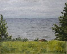 Lake View From the Porch --from RachelSteely.com oil painting landscape plein air