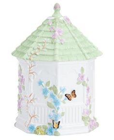 Lenox Dinnerware, Butterfly Meadow Figural Gazebo Cookie Jar - Serveware - Dining & Entertaining - Macy's