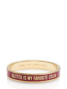 steal the spotlight hinged idiom bangle by kate spade new york