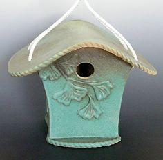 Handbuilt Ceramic Birdhouse