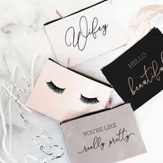 Youre Like Really Pretty Makeup Bag Eyelashes Makeup Bag Bridesmaid Makeup Bag Christmas Gifts for Friends Cheap Gifts for Women by ModParty Inexpensive Birthday Gifts, Birthday Gifts For Teens, Birthday Gifts For Best Friend, Christmas Gifts For Friends, Holiday Gifts, Birthday Greeting Cards, Happy Birthday Cards, Cheap Gifts For Women, Bridesmaid Makeup Bag