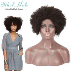 Human Hair Wigs Afro Curly Short Glueless Wig Human Hair Afro Kinky Curly Wig Brazilian Hair Lace Front Wigs For Black Women Brazilian Curly Lace Wig Janet Collection Full Lace Wig From Ethelhairproducts, $0.64| Dhgate.Com