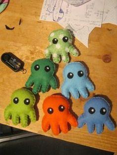 Felt octopuses.