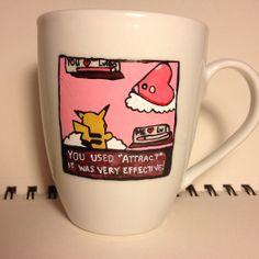 Pokemon battle mug by DalektableMugs on Etsy, $12.00