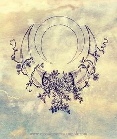 moonintaurus:  The Moon in Taurus…Recent pencil sketch and idea for a logo design for my etsy store.