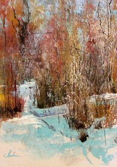 """Winter Weeds"" by Tom Christopher Pastel ~ 24 x 18"
