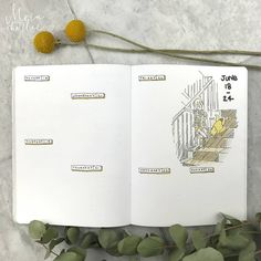 Bullet journal weekly layout, Winnie the Pooh drawing. | @moin.charlie
