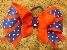 Boutique Hair Bow Ponytail Cheer Softball Soccer  on Etsy, $7.00