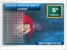 """""""Valores menores que la unidad"""" (Aplicación interactiva de Números Decimales de Primaria) Decimal, Math, Ideas, Learning Numbers, Maths Area, Teaching Resources, Math Resources, Early Math, Thoughts"""