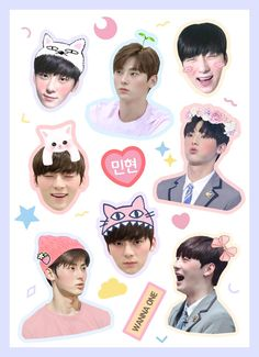 Pop Stickers, Meme Stickers, Tumblr Stickers, Printable Stickers, Planner Stickers, Kpop, Wall Drawing, Good Notes, Cute Wallpapers