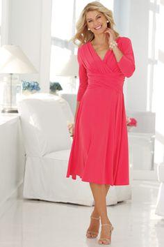 Ruched Empire-waist Dress