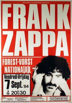 7.9.1984; frank zappa; bel, brüssel; vorst nationaal; (db)
