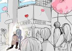 (log cover) Afternoon there by Wakamiya Tea - Hetalia - America / England