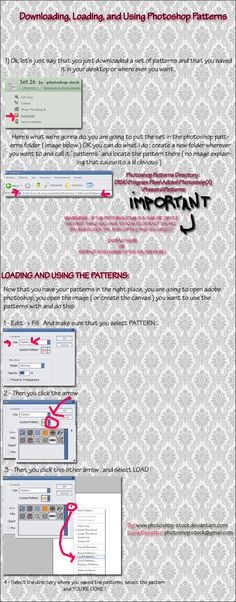 How To Use Photoshop Patterns by photoshop-stock.deviantart.com on @DeviantArt