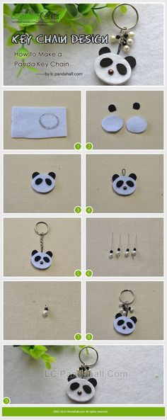Do you love panda key chain design? This article will share a tutorial on how to make a panda key chain with you. Panda Birthday Party, Panda Party, Felt Crafts, Diy And Crafts, Crafts For Kids, Key Fobs, Key Chain, Panda Baby Showers, Panda Craft