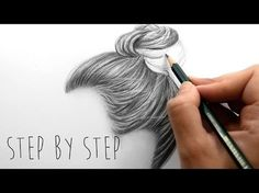 Draw With Me   How to draw shade realistic hair bun with pencils step by step   Emmy Kalia - YouTube