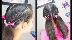 Colitas Doble Trenza - Braided Pigtails   Trenzas y Peinados   Peinados ...