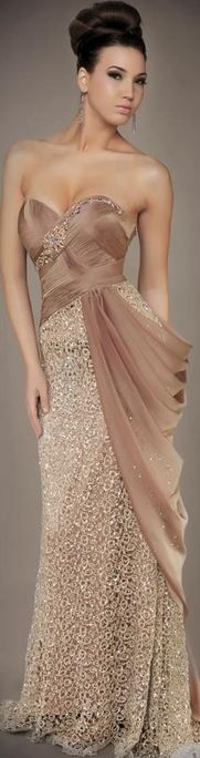 Simply~WOW!!! Id wear this to an opera or a fancy play....id carry an adorable/fancy clutch, bling, my hair would be in an elegant up~do.