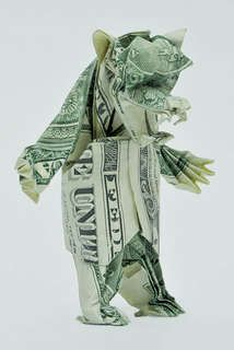 Won Pak Makes Cute Paper Creations from Dollar Bills #origami #paperart trendhunter.com