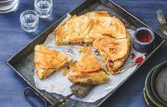 Mexicaanse loempiataart Love Food, A Food, Food And Drink, Burrito Wrap, Pizza Bake, Yams, Healthy Recipes, Healthy Food, Vegetarian
