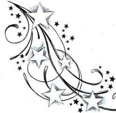 Tattoos And Body Art star tattoo designs Band Tattoos, Ribbon Tattoos, Body Art Tattoos, Tribal Tattoos, Girl Tattoos, Tattoos Skull, Anchor Tattoos, Feather Tattoos, Couple Tattoos