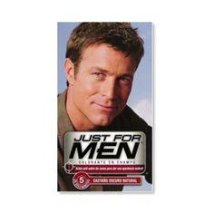 Just for men Tinte just for men shampoo castaño oscuro brown 28.4gr Just For Men se centra sólo en el cabello gris y lo reemplaza con sutiles tonos que coinciden con su color de pelo natural,  Deja el cabello más grueso y más saludable, sin amoniaco.