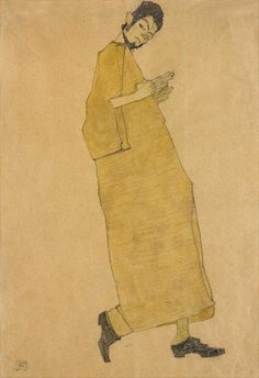 Self Portrait | 1909. Egon Schiele.