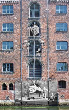 Dauerhafte Bildinstallation, Hamburg. www.zeit-fenster.com