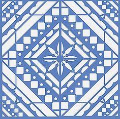 Mediterranean Stencils Large Mediterranean Floor Stencil