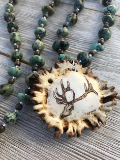 Deer Antler Necklace - Antler Jewelry - Horn Necklace - Real Antler Necklace - Tine Designs by Mindi - Horn Jewelry - Beaded Antler Necklace Antler Crafts, Antler Art, Antler Jewelry, Antler Necklace, Deer Mounts, Elk Antlers, Native Style, Drift Wood, Wood Creations