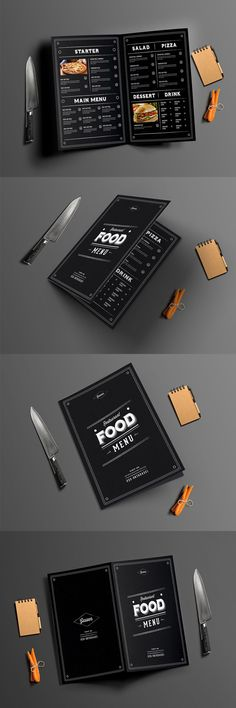 Rust and vintage deco menu perfect for your special menus. Template PSD
