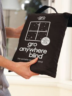 Portable blackout blind for when it s still too light to say night night Brand new design The versatile Gro Anywhere Blind has been designed to go anywhere with you, and can be put in place in minutes