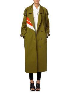 Khaki Cotton Warwick Trench Coat | Preen by Thornton Bregazzi | Avenue32