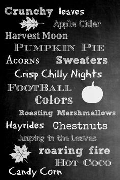 Free fall chalkboard printable.