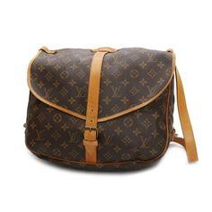 Louis Vuitton Saumur 35 Monogram Cross body bags Brown Canvas M42254