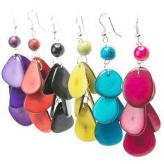 Orbita Tagua Earrings