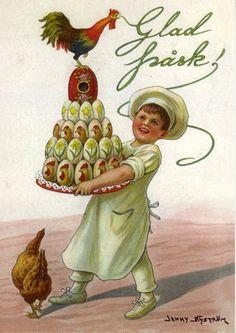 Happy Easter-Jenny Nystrom (1854 – 1946, Swedish)